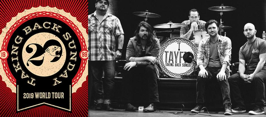 Taking Back Sunday at Danforth Music Hall
