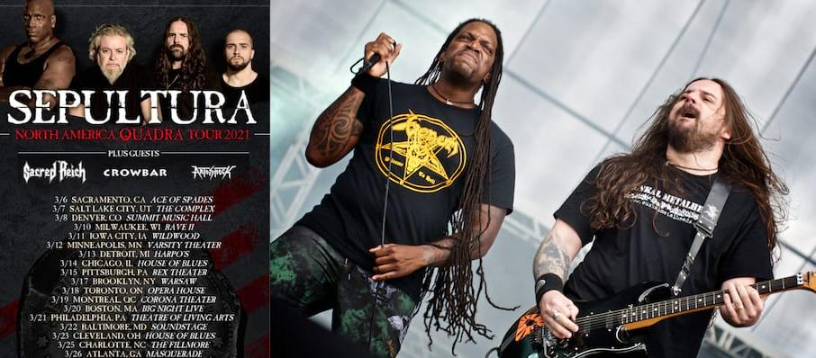 Sepultura at Opera House