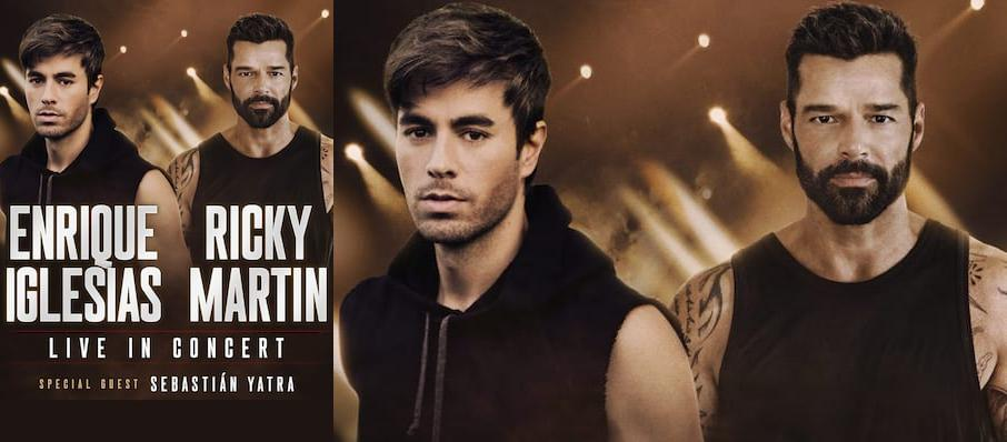 Enrique Iglesias and Ricky Martin at Scotiabank Arena