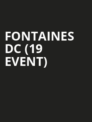 Fontaines DC (19+ Event) at Horseshoe Tavern