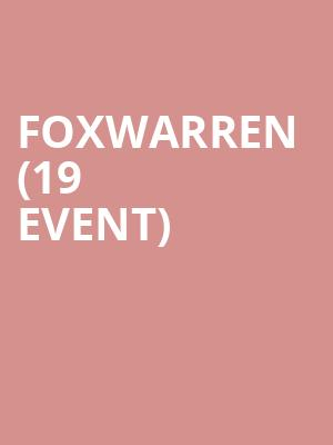 Foxwarren (19+ Event) at Lee's Palace