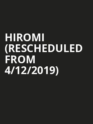 Hiromi (Rescheduled from 4/12/2019) at Weston Recital Hall