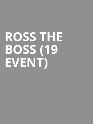 Ross The Boss (19+ Event) at Mod Club Theatre