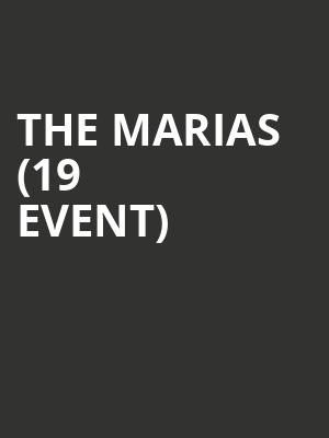 The Marias (19+ Event) at Velvet Underground