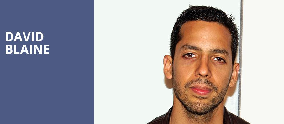 David Blaine, Sony Centre for the Performing Arts, Toronto
