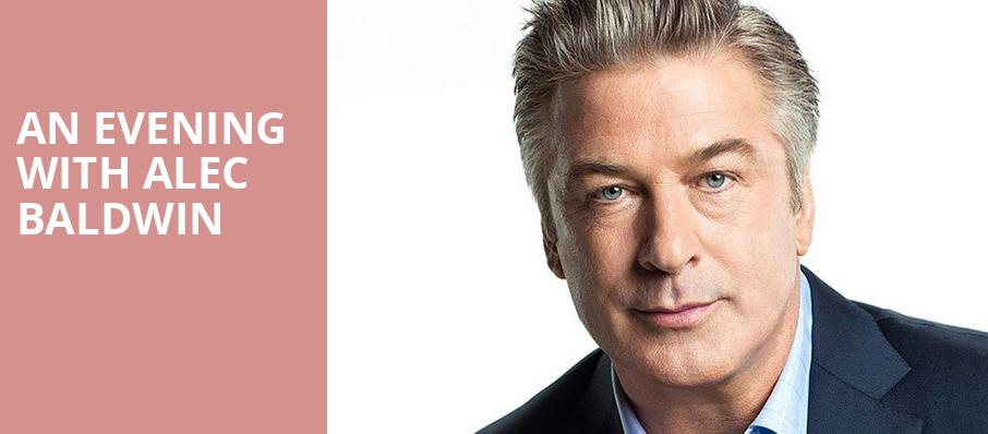 An Evening with Alec Baldwin, Roy Thomson Hall, Toronto