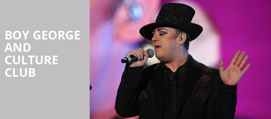Boy George and Culture Club, Sony Centre for the Performing Arts, Toronto