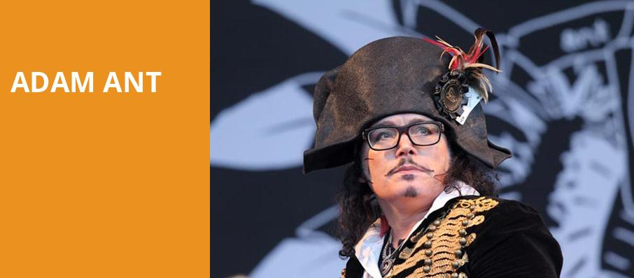 Adam Ant, Danforth Music Hall, Toronto